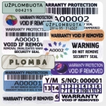 Protective stickers, adhesive security labels